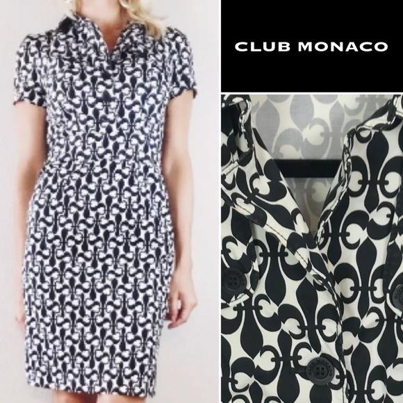 03661b898f97a7 Club Monaco Dresses   Skirts - Club Monaco Fleur-de-Lis Shirt Dress